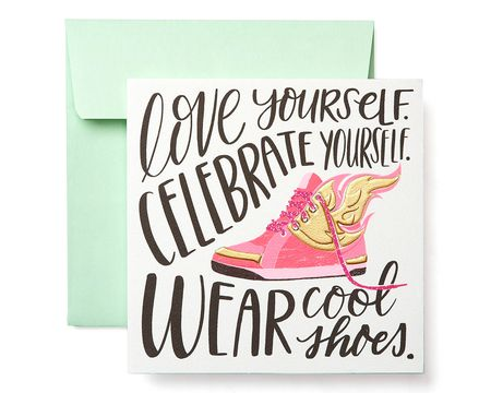 Blank inside paper cards for daughter shop american greetings cool shoes greeting card for her birthday thinking of you encouragement friendship m4hsunfo