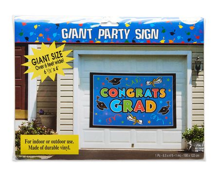 congrats grad giant party sign