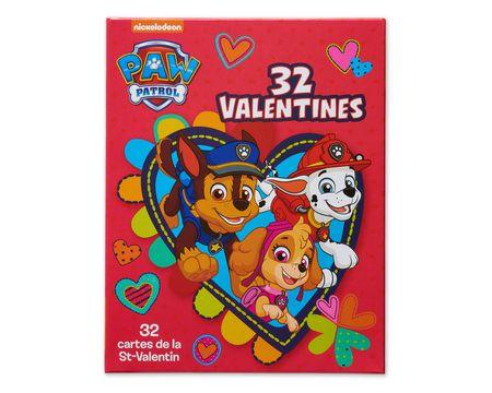 Paw Patrol School Valentine's Day Cards, 32 Ct