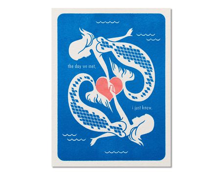 Mermaids Romantic Card