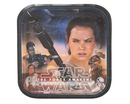 star wars: the force awakens dessert square plate 8 ct
