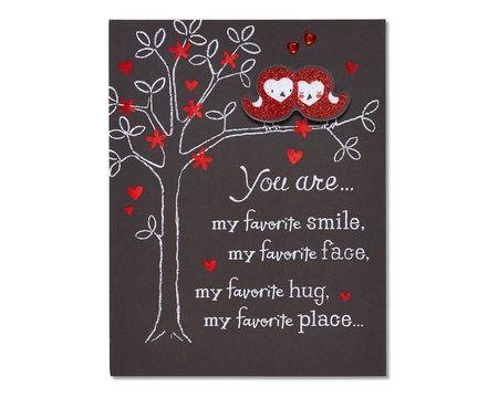 owls valentine's day card