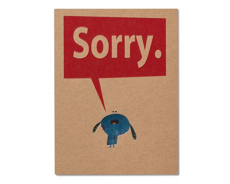 Sorry Apology Card