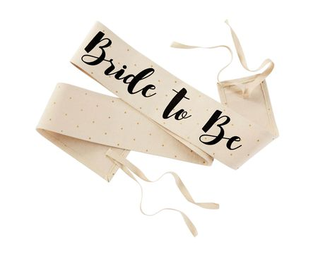 Mud Pie Bride To Be Canvas Wedding Sashes