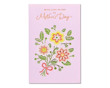 floral bouquet mother's day card