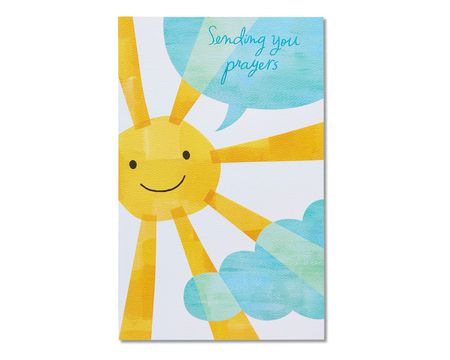 religious sun care and concern card