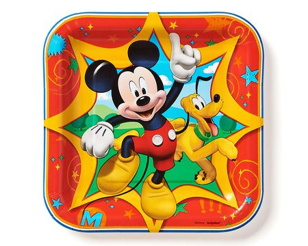 mickey mouse clubhouse dessert square plate 8 ct