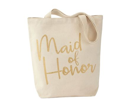Mud Pie Maid Of Honor Wedding Canvas Totes