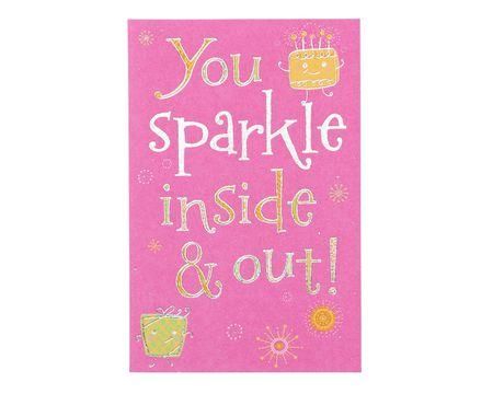 sparkle birthday card with foil