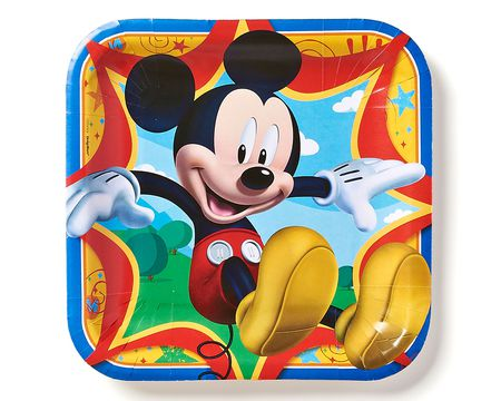 mickey mouse clubhouse dinner square plate 8 ct