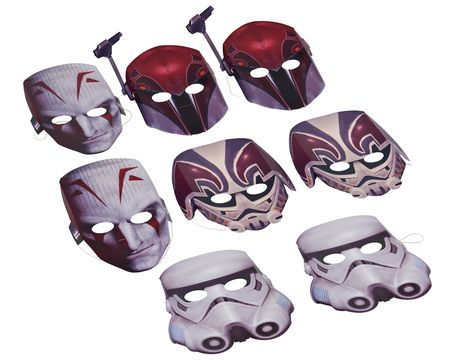 Star Wars Rebels Party Masks, 8 Count