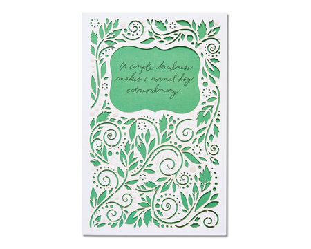 simple kindness thank you card