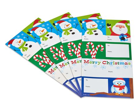 winter friends christmas gift tags stickers