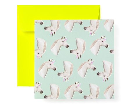 Unicorns Blank Greeting Card - Birthday, Friendship, Thinking of You