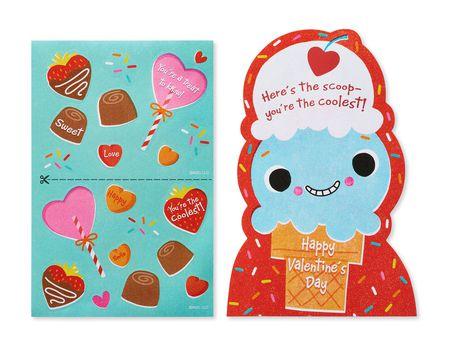 Ice Cream Valentine's Day Card, 6-Count