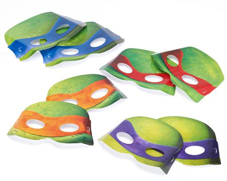 teenage mutant ninja turtles masks 8 ct