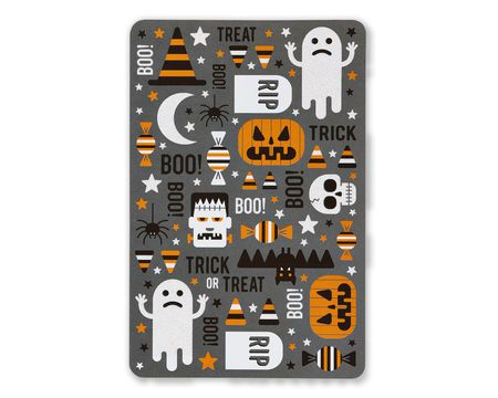 Tomb Much Fun Halloween Card with Glitter, 6-Count
