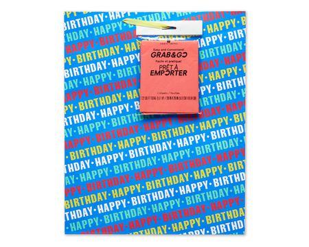 large happy birthday on blue grab-&-go gift bag