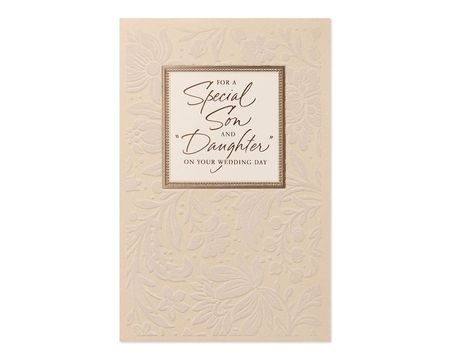 Son and Daughter-in-Law Wedding Card