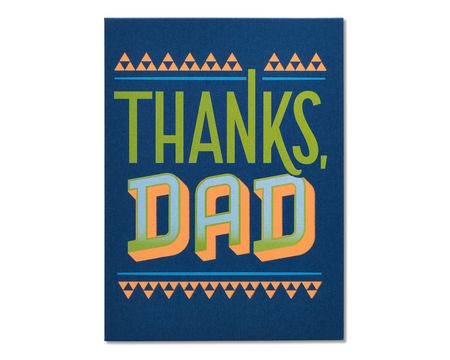 thanks dad father's day card