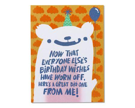 Birthday Wishes Belated Birthday Card