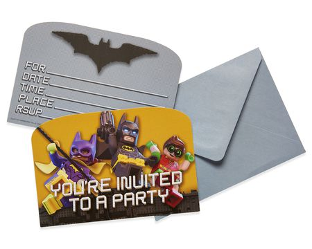 lego batman invites 8 ct