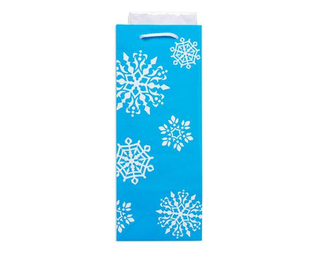 snowflake winter beverage combo gift bag