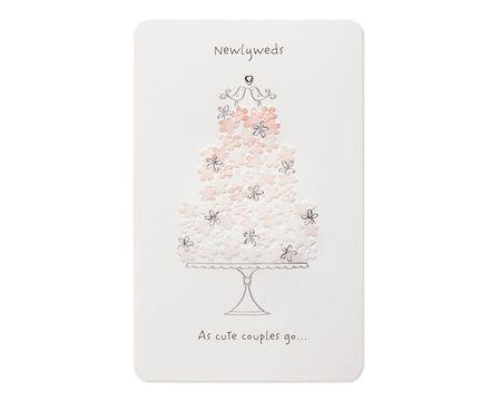 Pink Cake Wedding Card