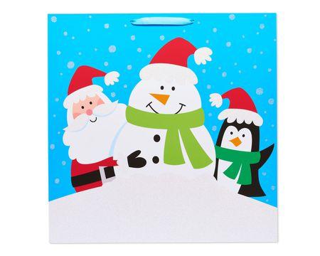 Santa and Winter Friends Jumbo Square Christmas Gift Bag