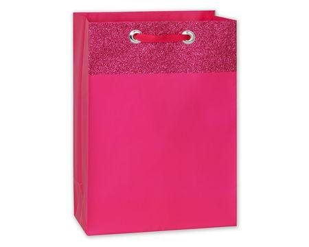 jumbo pink glitter gift bag