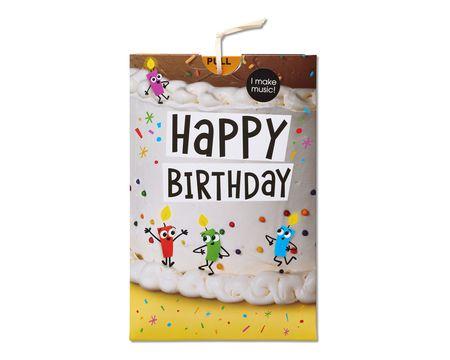 Dancing Candles Birthday Card