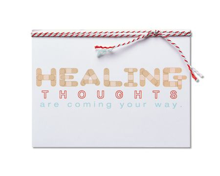 Healing Thoughts Get Well Card
