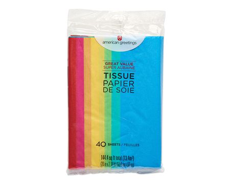 rainbow multi-colored tissue paper 40 ct