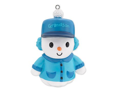 Grandson Snowman Christmas Tree Ornament
