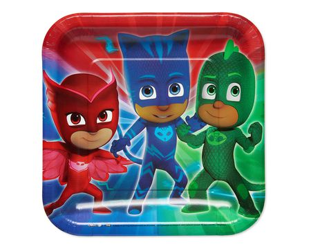 PJ Masks Dinner Square Plates 8-Count