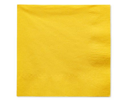 yellow beverage napkins 50 ct