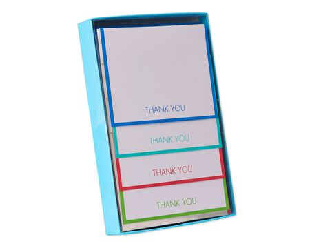 bright-bordered thank you notes