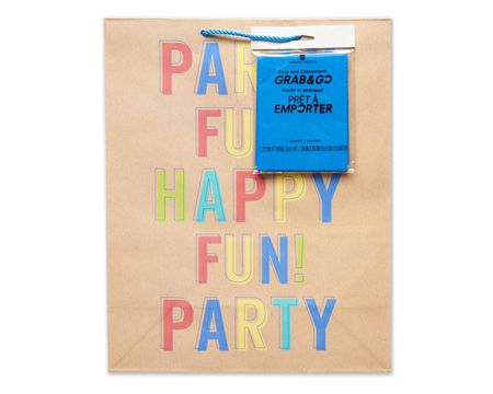 large party fun grab-&-go birthday gift bag