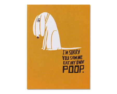 Poop Birthday Card from Dog