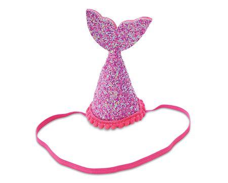 Mud Pie Hot Pink Mermaid Tail Party Hat