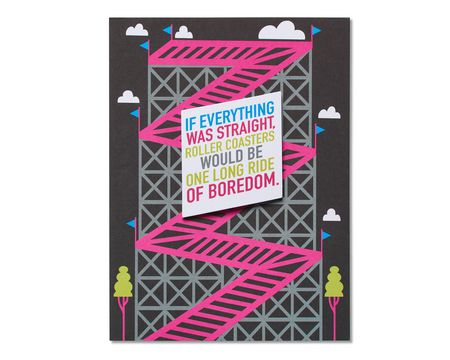 Rollercoasters Romantic Card