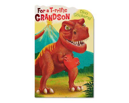 dinosaur valentine's day card