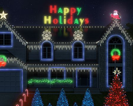 Holiday Lights Ecard (Personalize)