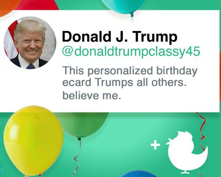 Trumps Perfect Birthday Post Ecard Personalized