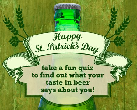 St. Patrick's Day Beer Quiz Ecard (Interactive)