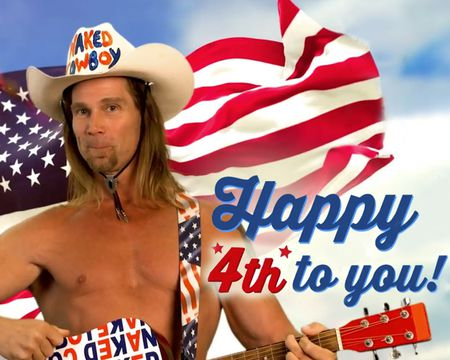 Naked Cowboy 4th of July Video Ecard (Personalize)