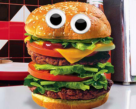 Talking Cheeseburger Ecard (Personalize)