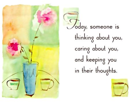 Someone Is Thinking of You