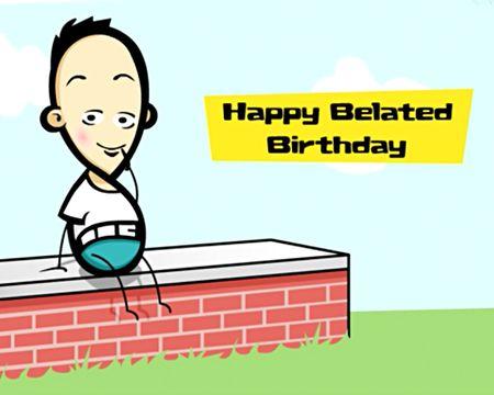 Happy Belated Birthday Ecards Greetings