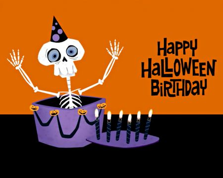 Happy Halloween Birthday Ecard